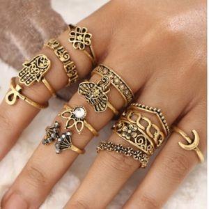 13 hand ring set